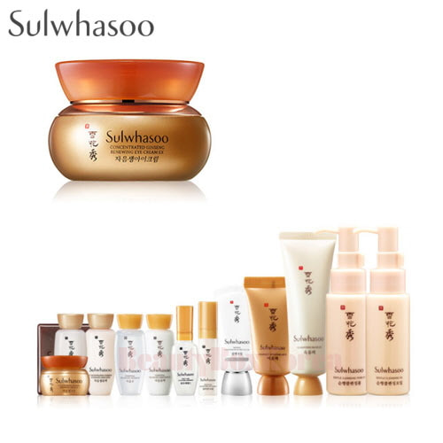 SULWHASOO Concentrated Ginseng Renewing Eye Cream Set 14items,SULWHASOO